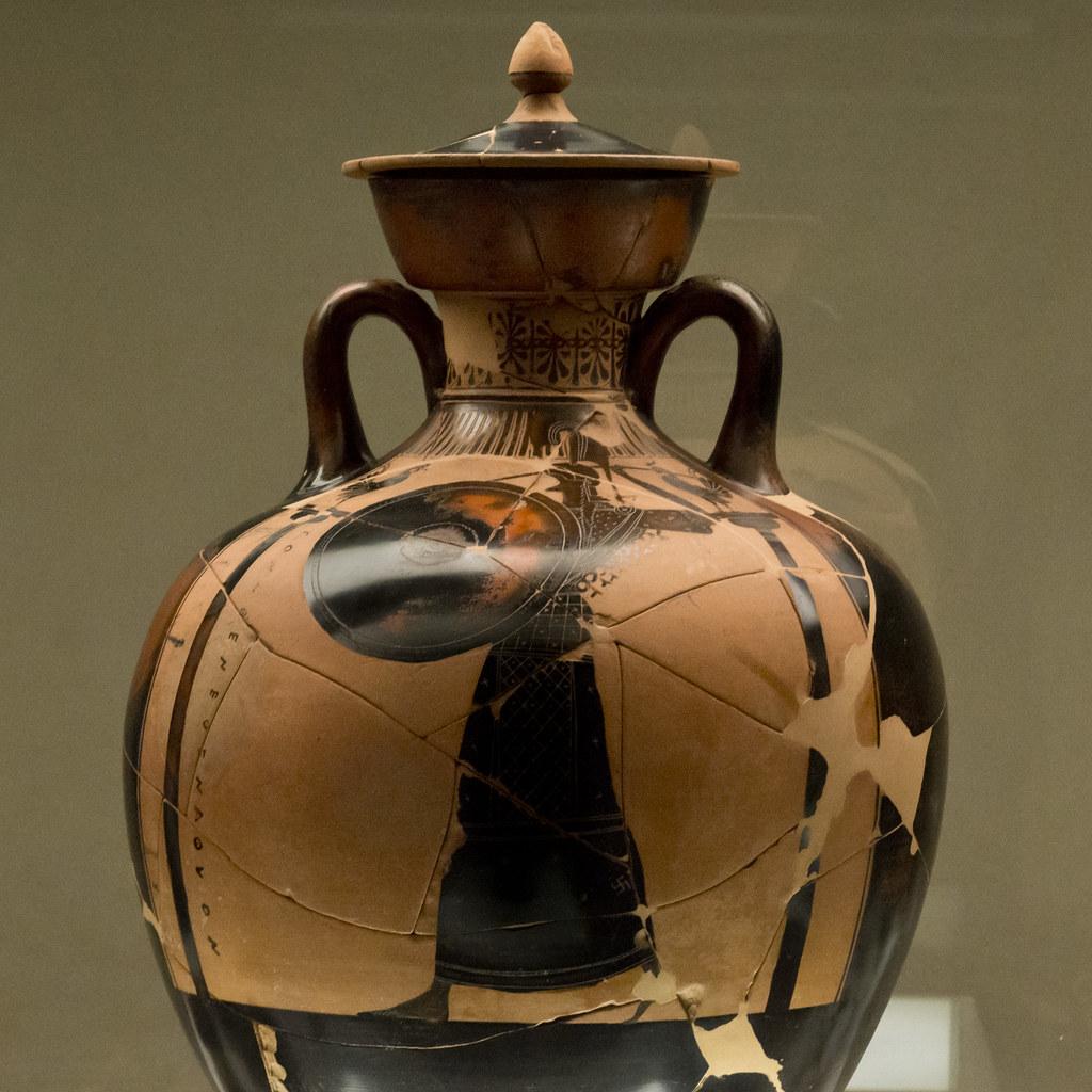 Panathenaic Amphora Side A Athena Promachos