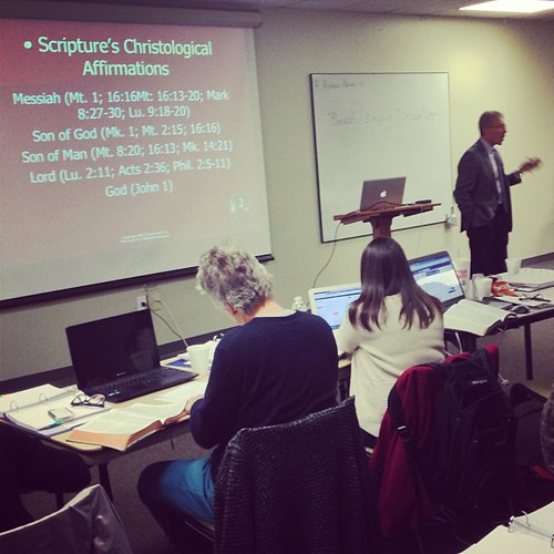 Talking #Christology w/ @stephenwrankin in the #youthmin certification class at #psym13 #theologynerdstuff | by gavoweb