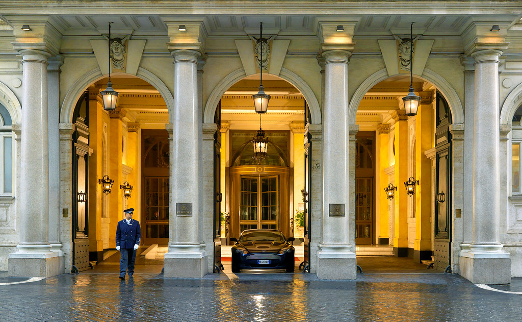 The st regis rome entrance entrance property amenity for 5 star restaurant exterior