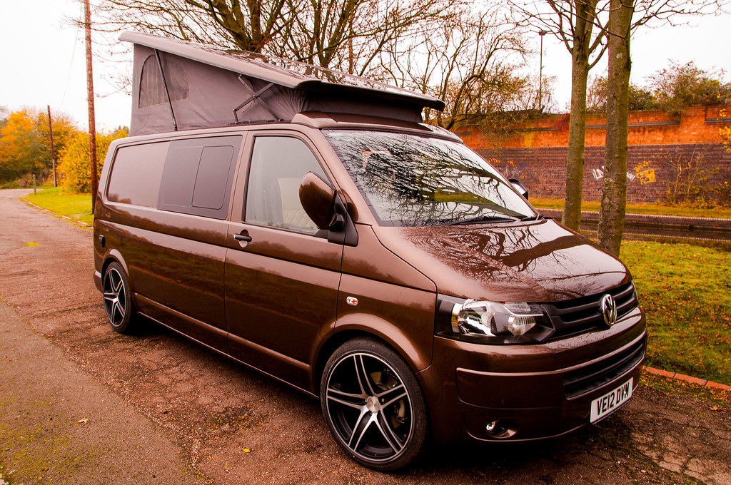 Vw T5 Transporter Camper Van A Side View Of The Toffee