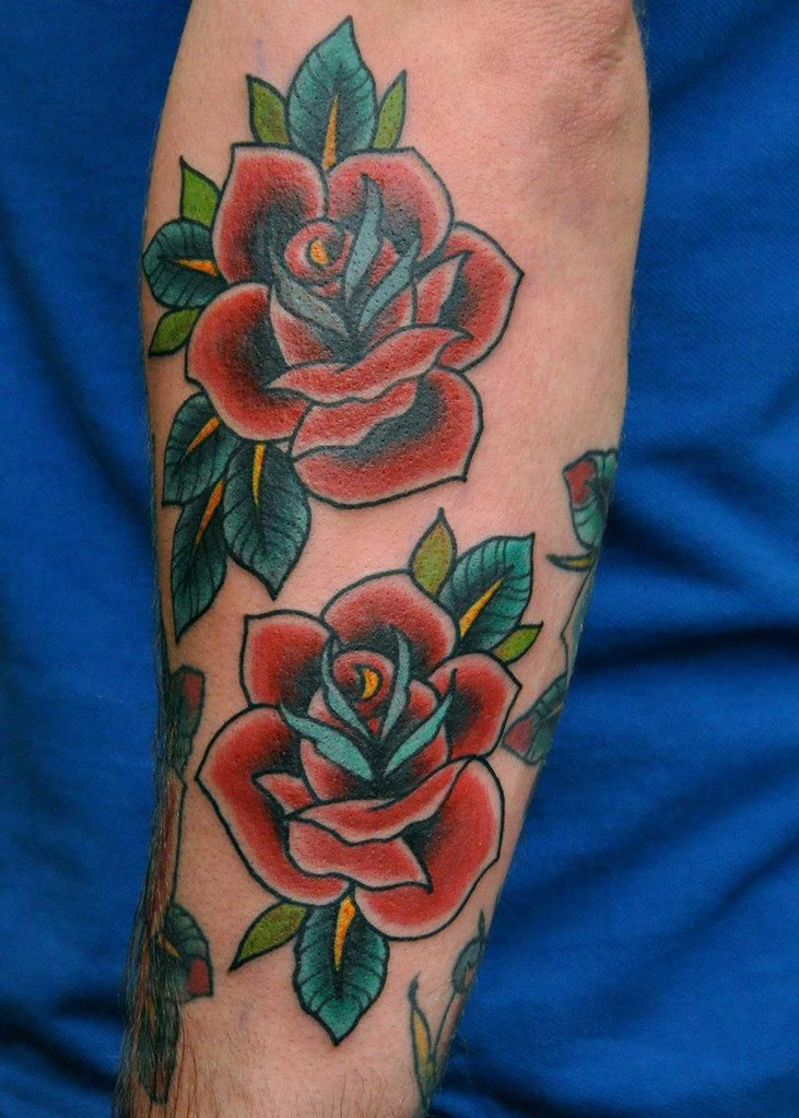 TRADITIONAL ROSE TATTOO | TRADITIONAL ROSE TATTOO CUSTOM ...