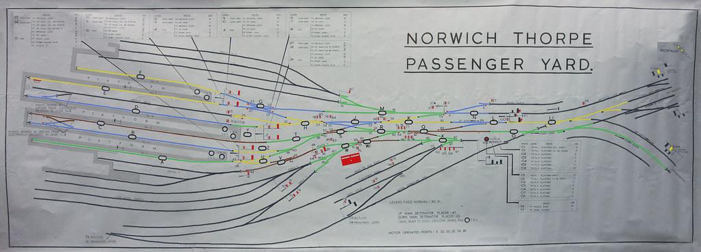 Norwich Thorpe Passenger Yard 1970s