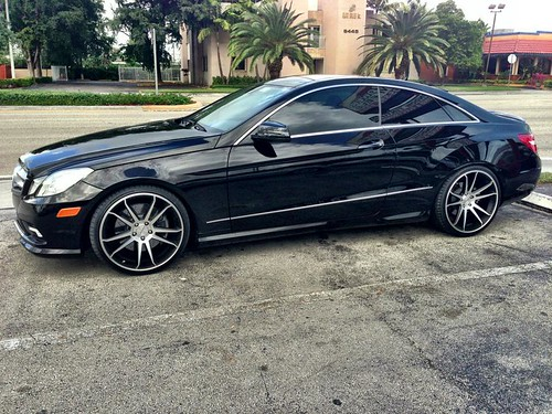 Mercedes benz e550 coupe on 20 cw s5 matte black machined for Mercedes benz e550 coupe