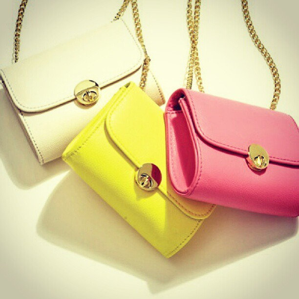 bags #pastel #white #yellow #pink #slingbags #fashion #ju… | Flickr