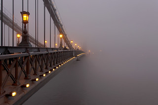 Budapest - the Chain bridge covered in fog at new year's eve 3 | by Romeodesign