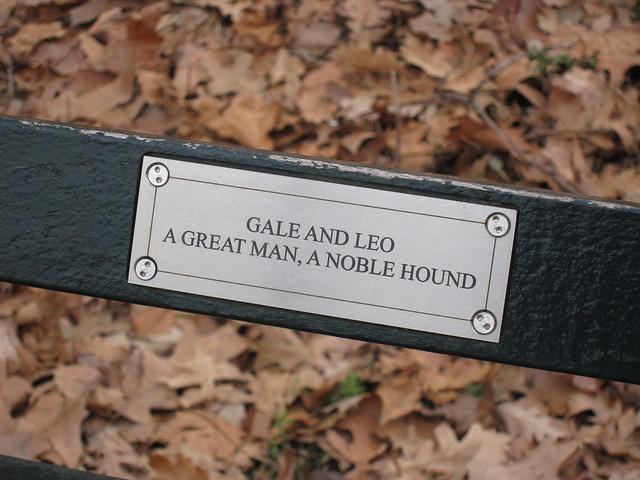 Central Park Bench Plaque 3 | Flickr - Photo Sharing!