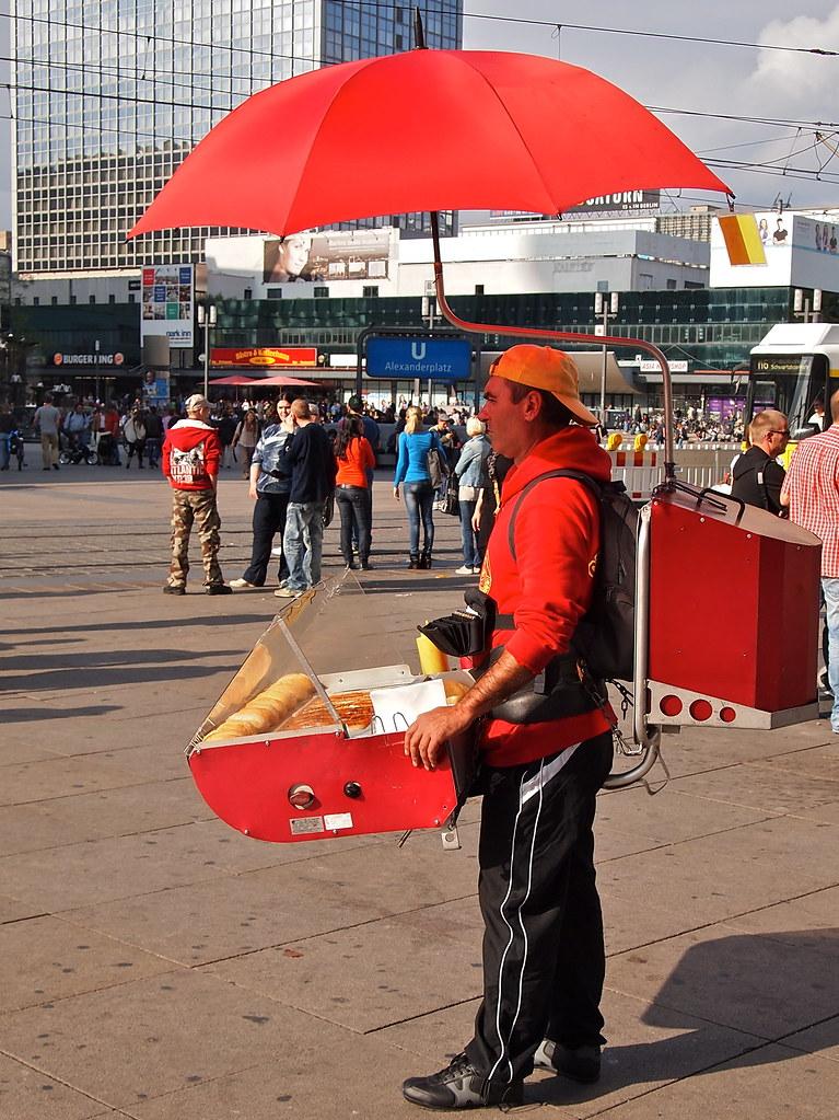 hot dog seller at alexander platz berlin olympus digital flickr. Black Bedroom Furniture Sets. Home Design Ideas