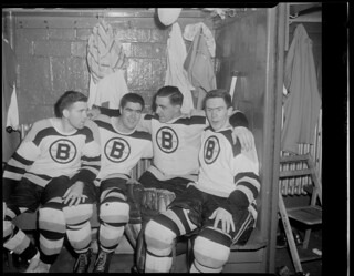 Peirson, Mackell, Henry and Labine of the Bruins | by Boston Public Library