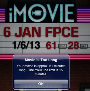 iMovie for iPad - 15 min upload max for YouTube | by Wesley Fryer