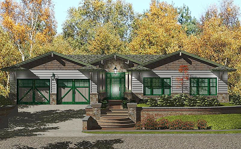 Custom Craftsman Style Prefab Home Plan 3 Bedroom 2 Bat