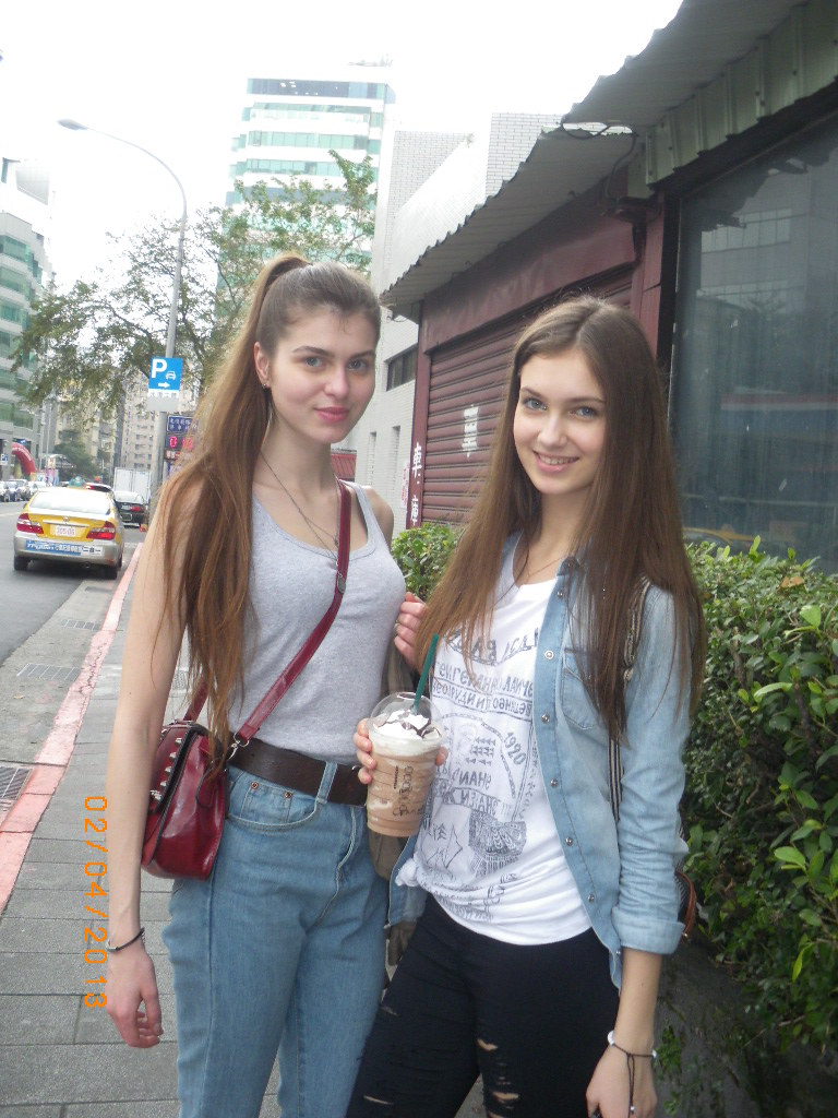 Two Gorgeous Russian Girls In The Streets Of Taipei, 2013 -3945