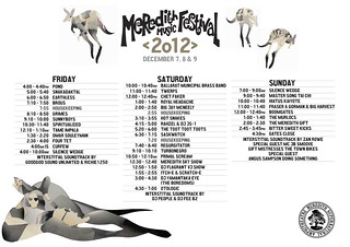 MMF2012 Playing Times | by Aunty Meredith
