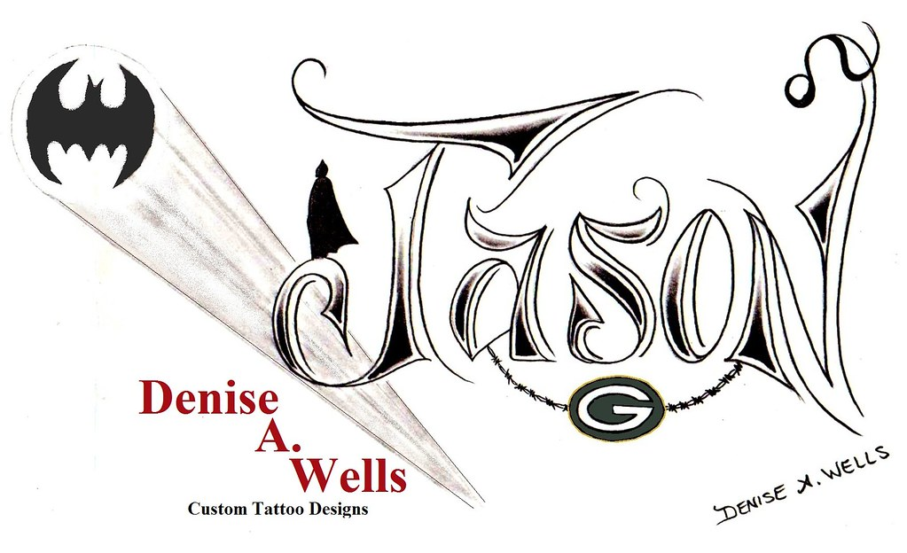 jason tattoo design by denise a wells this name design ha flickr. Black Bedroom Furniture Sets. Home Design Ideas