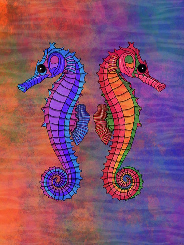 Seahorses in Procreate
