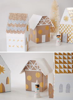 MerMagTissueBoxChristmasVillageWithDuctTape4b | by mer mag