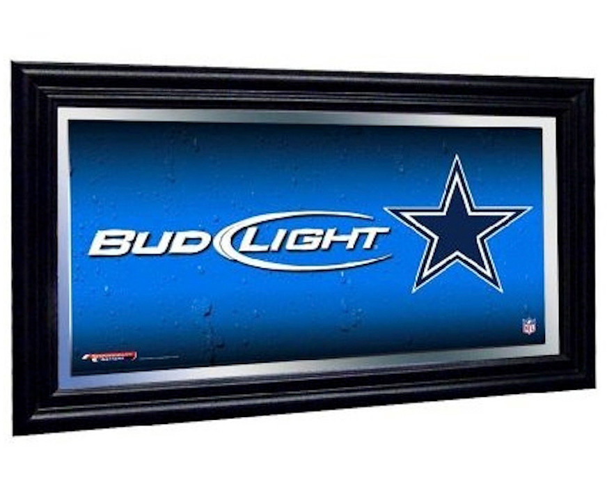 Dallas Cowboys Bud Light Mirror Nfl Bar Mirrors For Sale