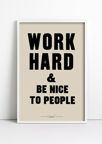Letterpress poster by Anthony Burrill | by Eye magazine