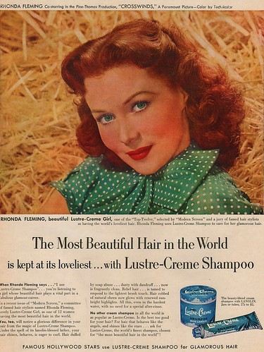 LUSTRE CREME featuring RHONDA FLEMING 1951 | by 1950sUnlimited