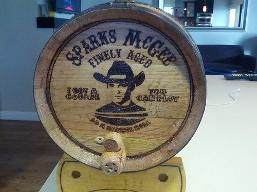 Sparks McGee Oak Barrel | by WilWheaton
