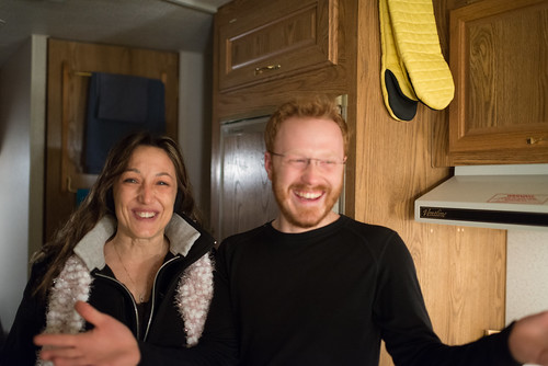 Jodi & Tyler Laughing in Our Camper | by goingslowly
