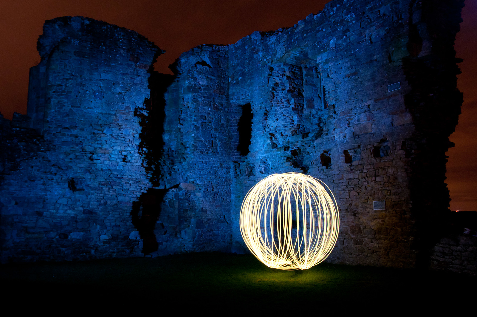 Light painting @ Duffus Castle, Northern Scotland [Explored]