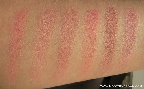 Pink+blusher+comparison2 | by Modesty Brown