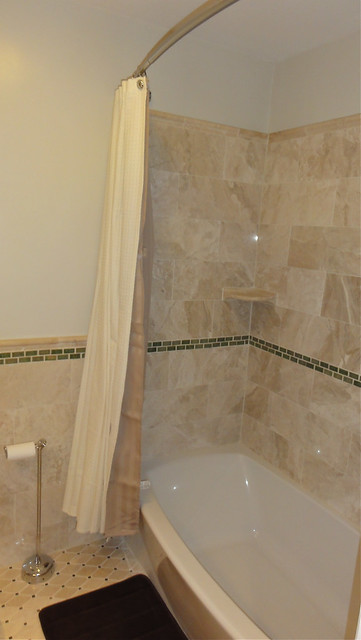 Deep Soaker Tub Shower Combo With Marble And Glass Surround Flickr Photo