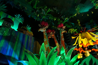 Giraffes in it's a small world | by Disney, Indiana