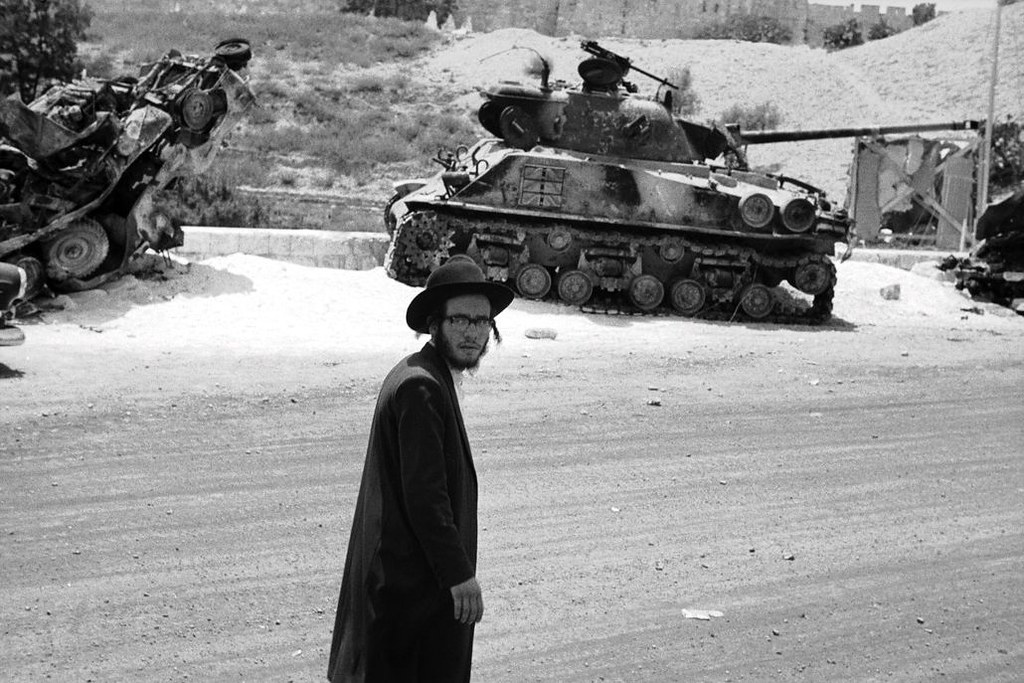 An M50 Sherman Destroyed Next To The City Walls Of Jerusalem Israel During The Six Day War 1967