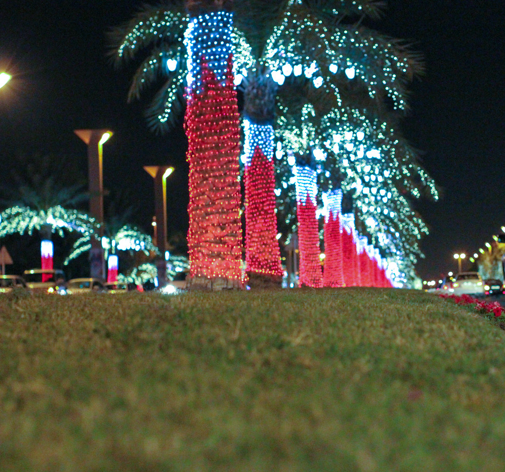 Bahrain National Day Street Decorations