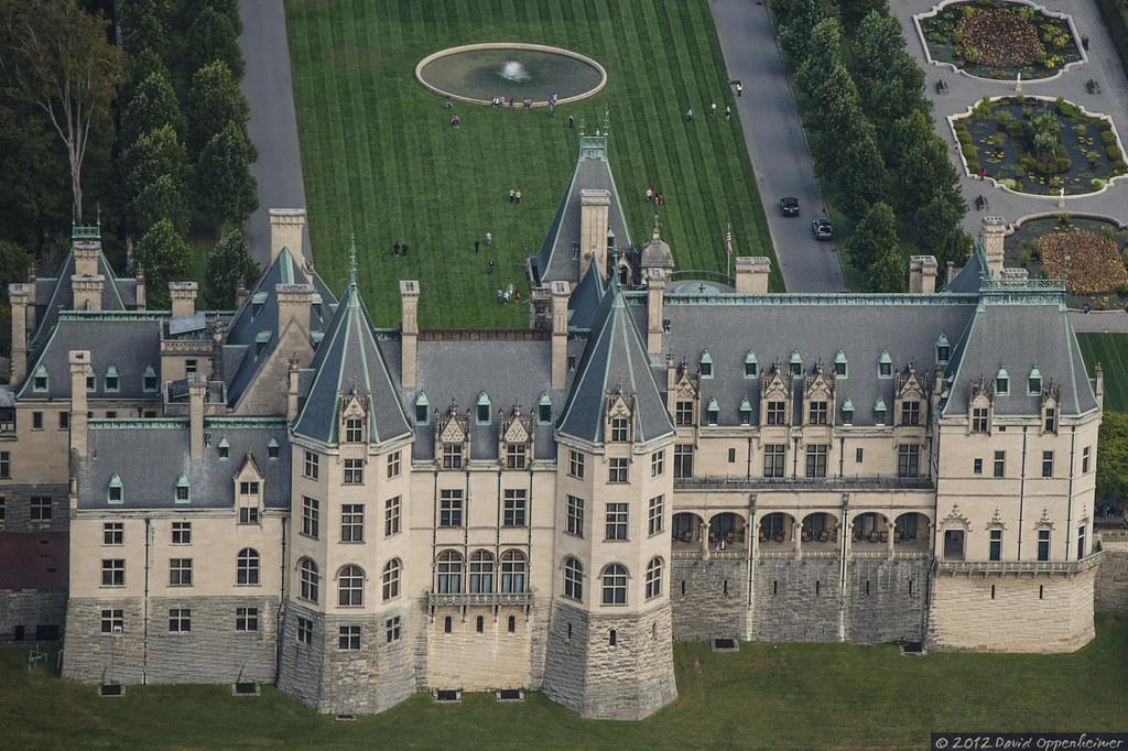 Biltmore Estate Aerial Photo Of Biltmore House