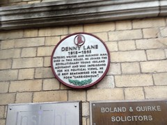Plaque to Denny Lane (1818-1895) at 72 South Mall Cork
