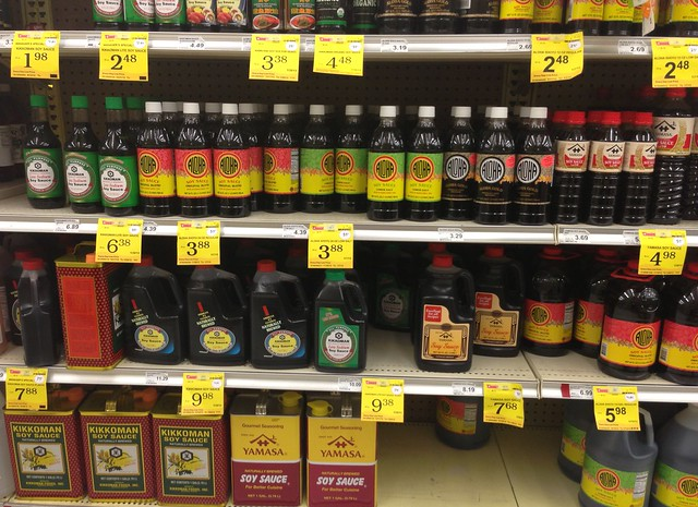 Soy sauce selection