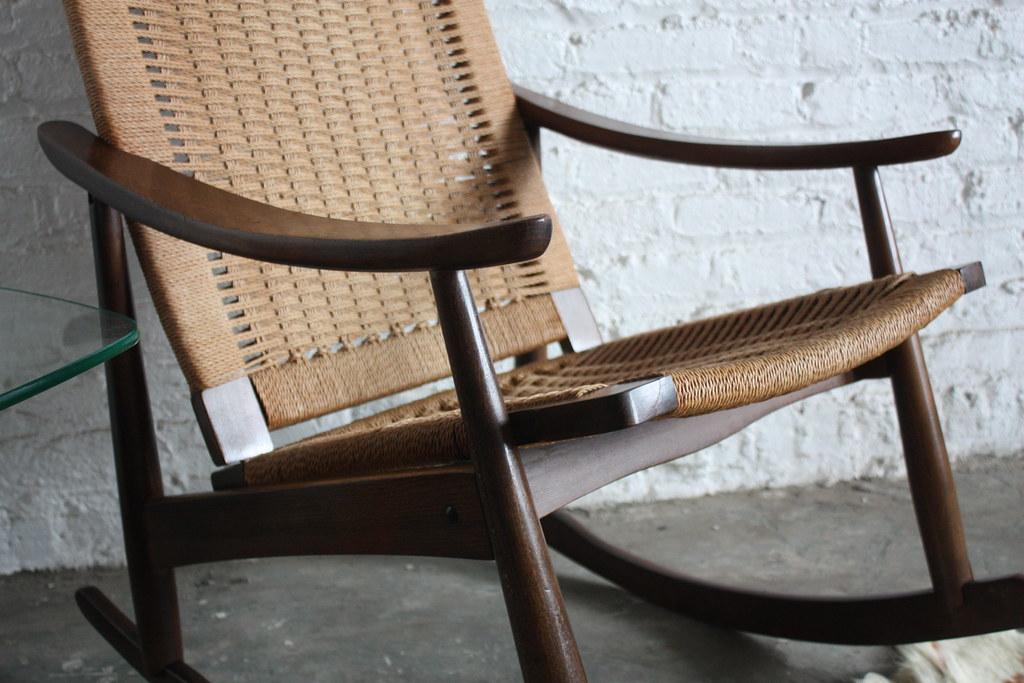 ... Regal Mid Century Danish Modern Woven Rope Rocker (1960u0027s) | By  Kennyk@k2modern