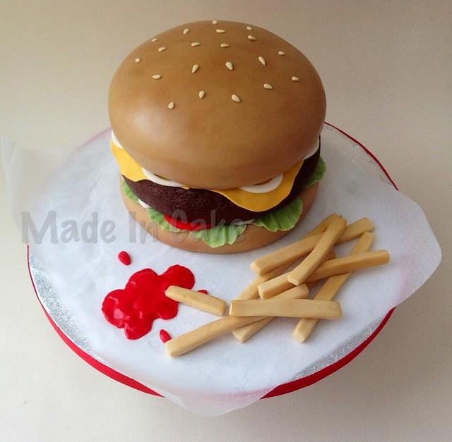 burger chips cake flickr photo sharing