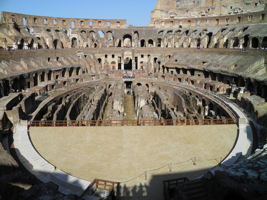 The Colosseum Arena Showing The Hypogeum Colosseum Amph