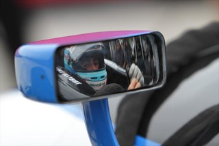 Tristan Vautier of France prepares to test an IZOD IndyCar Series car for the first time | by IndyCar Series