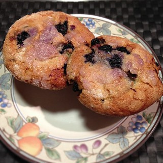 The Original Jordan Marsh Blueberry Muffins on a Plate. | by stevegarfield