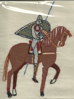 (Plastic-wrapped) From the Bayeaux Tapestry | by Stamford Bridge Tapestry Project