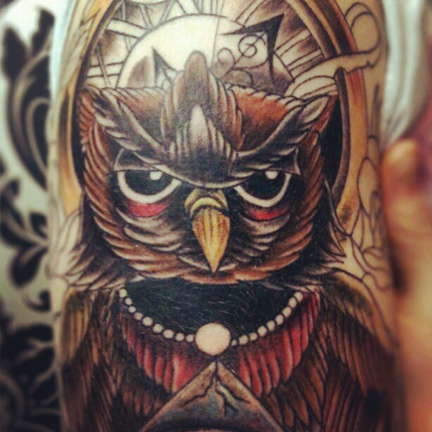 native american owl tattoo