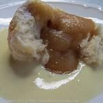 Rohrnudeln mit Apfelmus und Vanillesauce