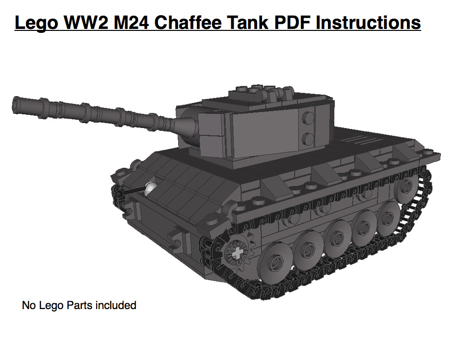 Lego Ww2 M24 Chaffee Tank Pdf Instructions For Trade