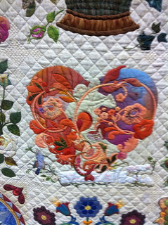 Mi Amor~Detail~ Quilt by Margarete Heinisch | by Pam from Calif