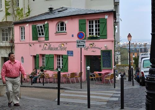 Paris montmartre la maison rose 2 2 rue de l 39 abreuvo flickr - La maison basque paris ...