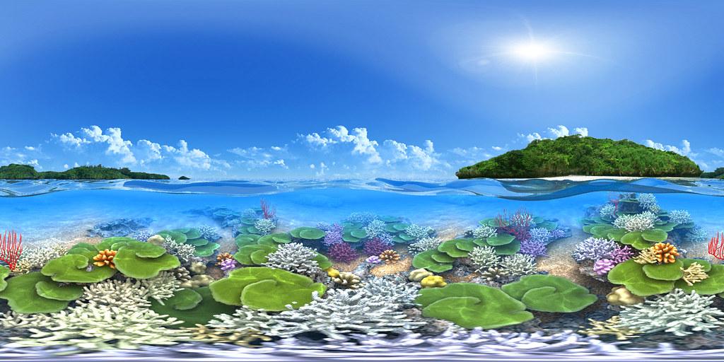 Coral Reef - CG Panorama | Equirectangular CG panorama ...