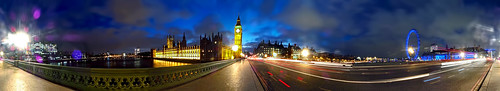 Westminster Bridge at Night - Panorama | by Anatoleya