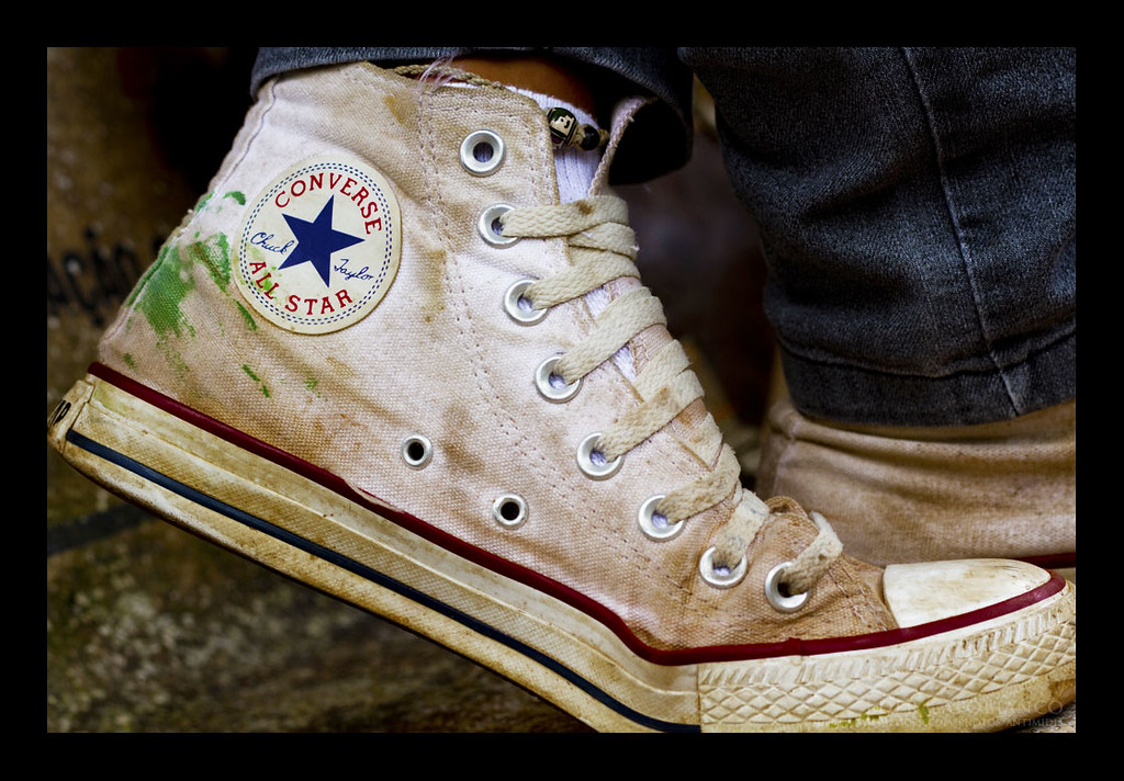 Worn Out Converse Shoes