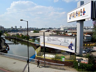 Olympic advertising from Bow Flyover | by Andy Worthington