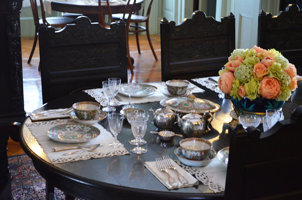 ... Place Setting In Dining Room   FDR National Historic Site   Springwood  Estate   Hyde Park