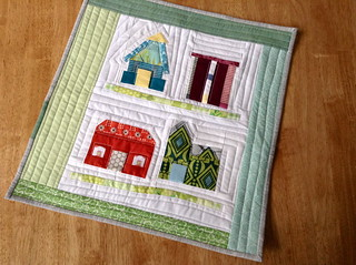 houses mini quilt | by quirky granola girl